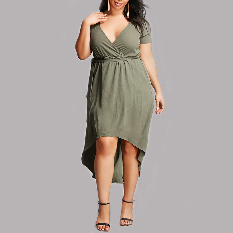 Casual maxi dress plus size
