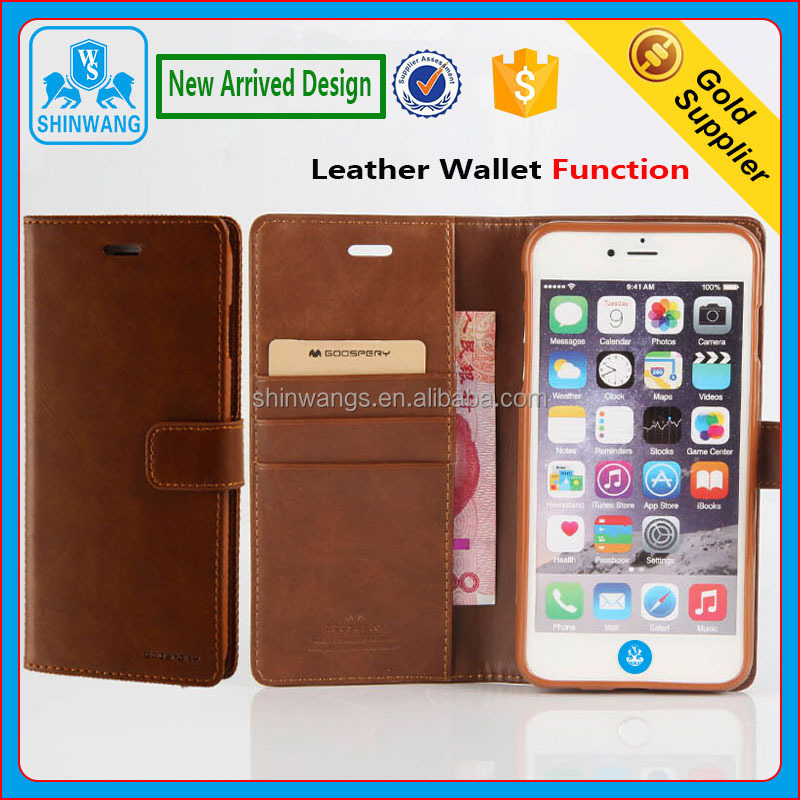 New Arrived PU+TPU Leather Mobile Phone Wallet Case for iPhone 6/6 Plus and iPhone 7/7 Plus