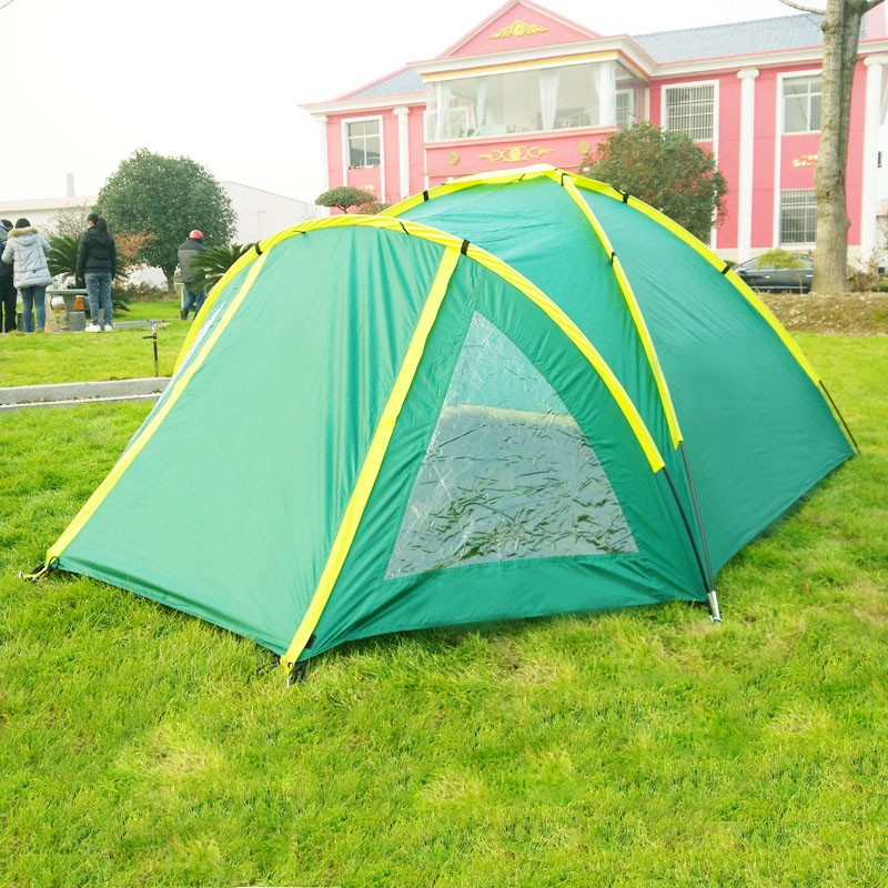 Four season polyester camping tent 4 person tent camping