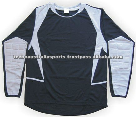 2014 high quality long sleeve goal keeper padded jersey