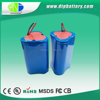 18650 Size and 12v Nominal Voltage 34mAh lithium ion battery pack