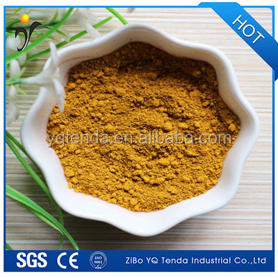 Good dispersion effect iron oxide yellow pigment for cement floor tile