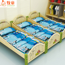2017 popular home and shool three set furniture simple style wood kid bed designer furniture