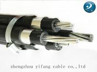 Aluminum (Al) power abc cable Aerial bundled cable size