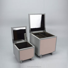 new design pink and grey double colour jewelry packaging box with mirror