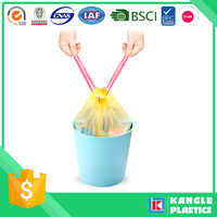 hdpe custom garbage pe drawstring bag