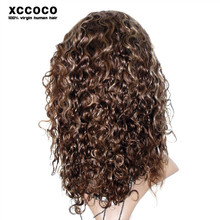 100 Percent Short Brazilian Afro Wave 10 inch Human Hair Full Lace Wig