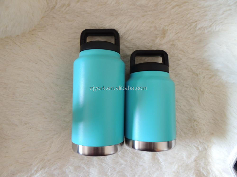 500ml 750ml double wall stainless 18/8 stainless steel teal powder coating vacuum insulated water bottle