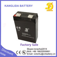 Rechargeable sealed lead acid storage battery 4v4ah for intercom system