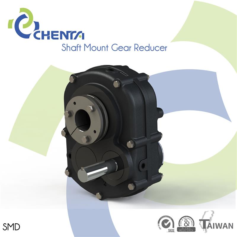 SMD shaft mounted gear reducer double helical gearbox 4kw gear motor