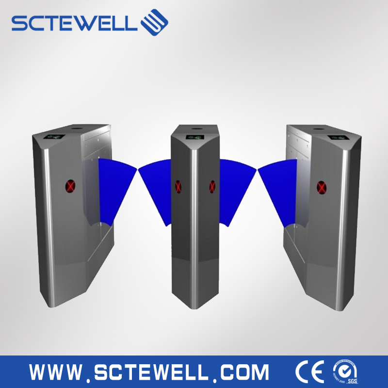 Full height turnstile qr code reader with controller