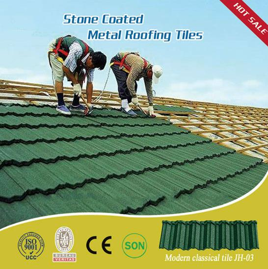 Dongyue machinery group stone coated metal roof tile photovoltaic clay roof tile price