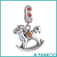 Jewelry Horse Bead Pendant Necklace 925 Sterling Silver Animal Bead
