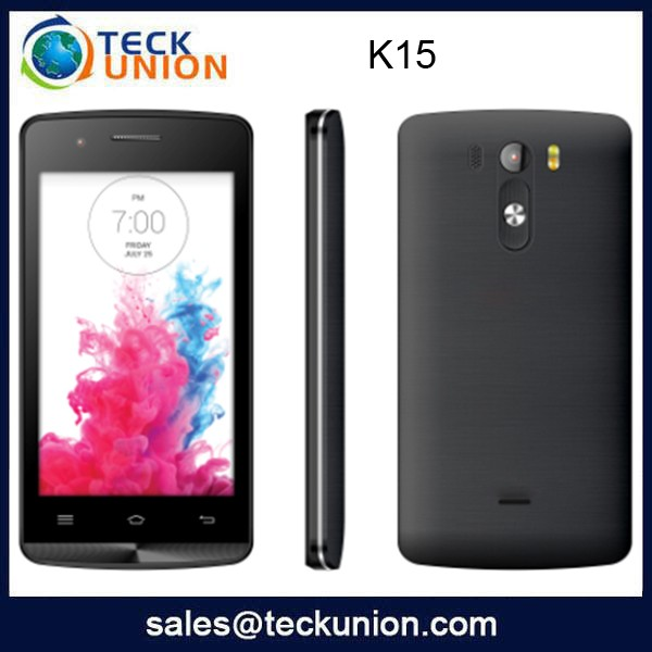 K15 2015 new 4 inch dual sim card cheapest Android smart mobile phone