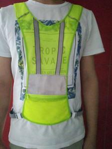 2017 hot selling products led glowing reflective jogging vest running vest