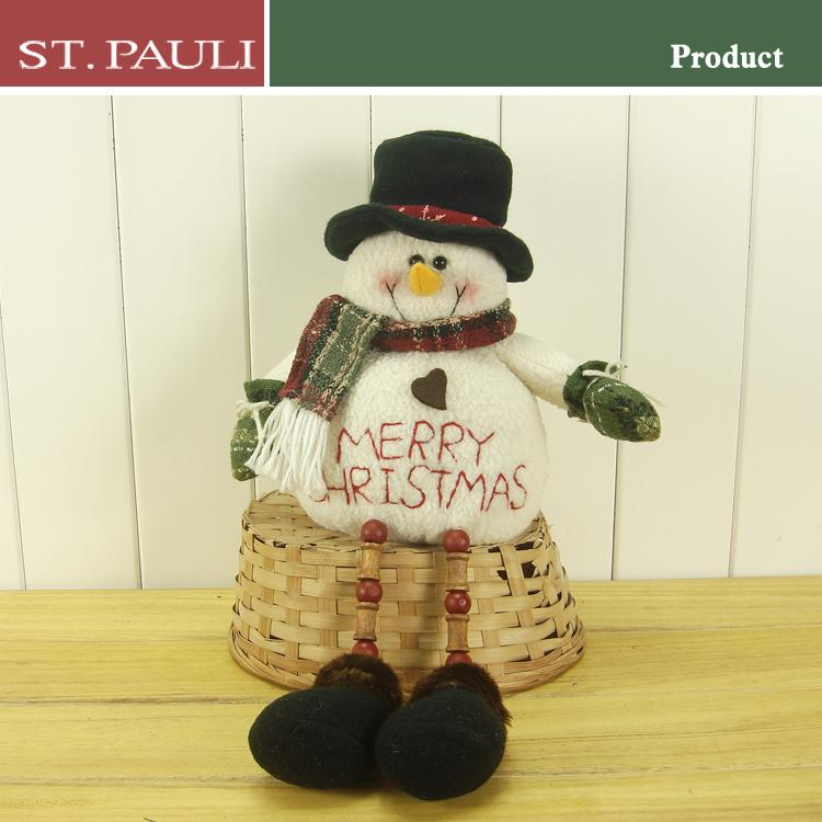 holiday gift and craft christmas indoor decorative plush snowman for cheap sale