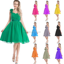 Bestdress all color tea length 2014 New long Chiffon Evening Formal Party Ball Prom Gown Bridesmaid Dress