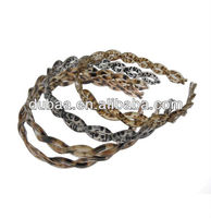 Pretty Plastic Braid Hair Band,Crystal Braid Head Band with Leopard Spots Plaited Hair Hoop Jewelry Factory