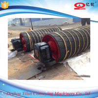 Driving pulley with rubber cover