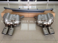 A6 S6 looking two pair outlet exhaust muffler with rear diffuser for Audi