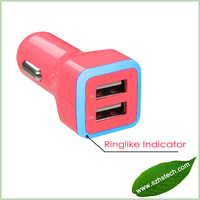 Dual usb phone car charger adapter, Dual usb car charger 5v 3.1a for iPhone /Samsung/Blackberry/ Mobile Phone
