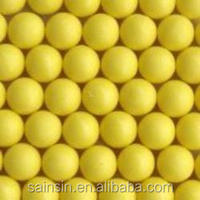 2015 New cheap good quality solid yellow Paintballs