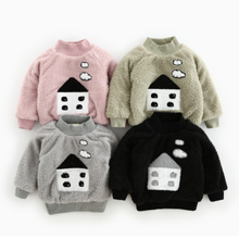 PHB50468 infant new winter warm sweatshirts baby pink hoodie