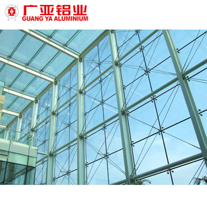 Aluminum architectural structural frameless facade glass curtain wall for commercial building