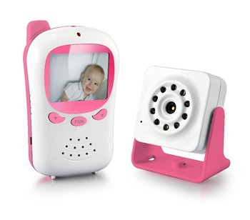 smart video sound baby camera monitor with 2.4 Inch cd display infrared night vision