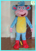 HI blue monkey with boot mascot costume custom made movie character mascot costume