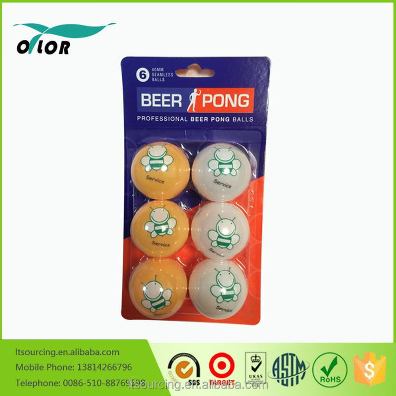 glow in dark Hot sale promotional customized color cheap good quality plastic ping pong/table tennis ball wholesale