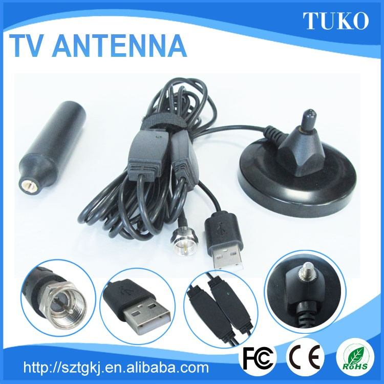High gain dipole active indoor wireless dvb-t dvb-t2 car antenna
