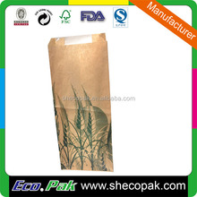 Factory window bread paper bag, long bread paper bag