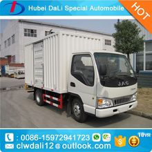 Cheap price JAC 4x2 109hp light van cargo truck China small truck for sale,CLW Van Truck for sale