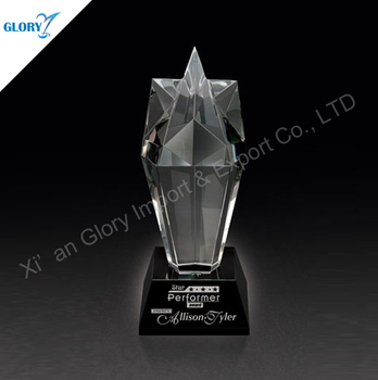Customized Star Shape Luxury Crystal Trophy For Award Show