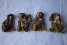 art&collectible use resin material small polyresin monkey statues