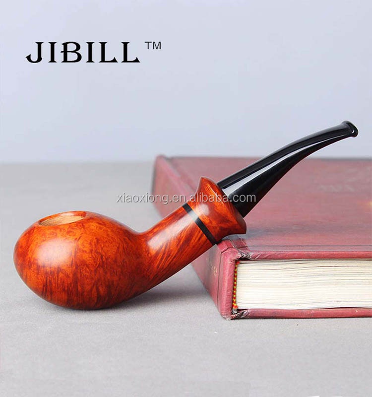 Modern Gentleman Wood Stove Pipe Weed Smoking Xiaoxiong Wooden Pocket Tobacco Pipes