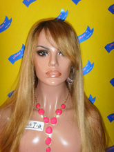 Halloween and Party full lace wigs two tone and highlight long wig cosplay