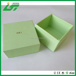 luxury custom blue printing hard cardboard keepsake box and gift box for candle packaging