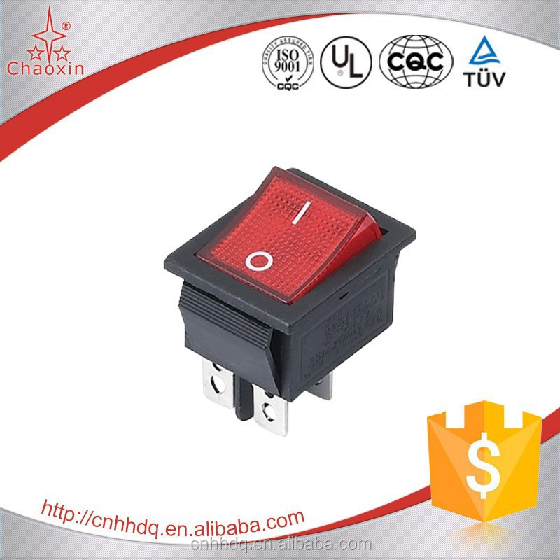 UL VDE DPDT Momentary Light Rocker Switch