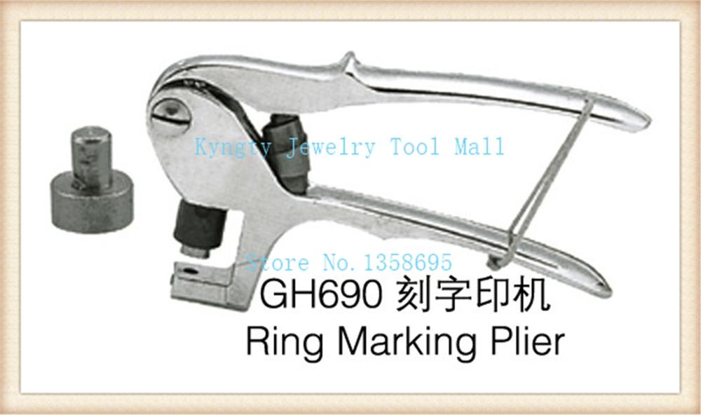 plier insert curved lettering stamp jewelry ring karat marking