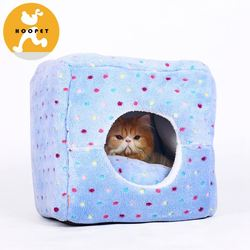 Light purple camping luxury dog kennel with small colorful dots