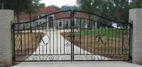Customized Residential wrought iron/galvanized powder coated steel/Iron/ Stainless Steel Gate Ornament