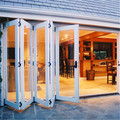 Aluminum soundproof folding doors,aluminum alloy frame door