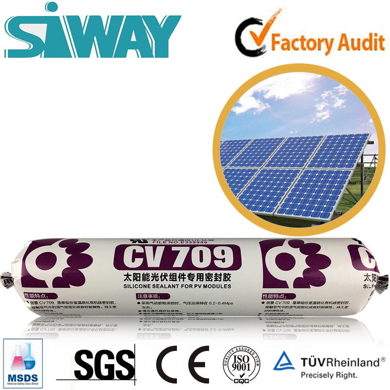 solar panels photovoltaic low volatile rtv silicone adhesive sealant