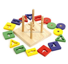 Baby Toys Montessori Wooden Geometric Sorting Board Blocks Kids Educational Toys