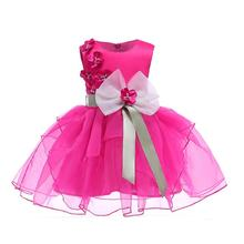 New baby big flower tutu princess <strong>dress</strong> for girl elegant flower birthday party girl <strong>dress</strong> Baby <strong>girl's</strong> christmas clothes