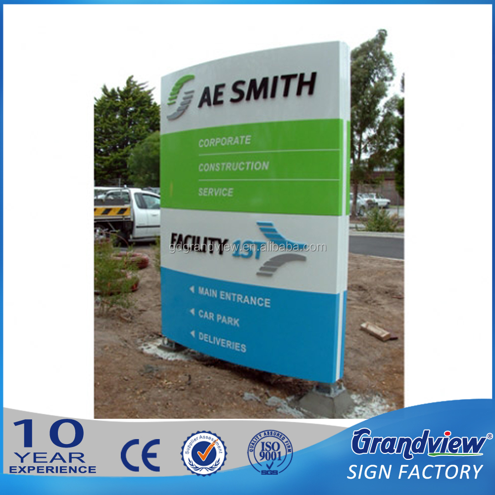 Customized outdoor hospital clinic totem stainless steel building wayfinding directional pylon sign standing pillar sign board