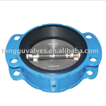 Rubber-Coated Dual Disc Wafer Check Valve