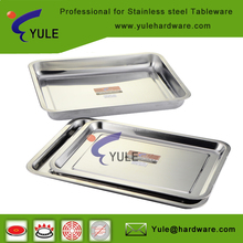 Wholesale stainless steel serving tray for canteen and BBQ